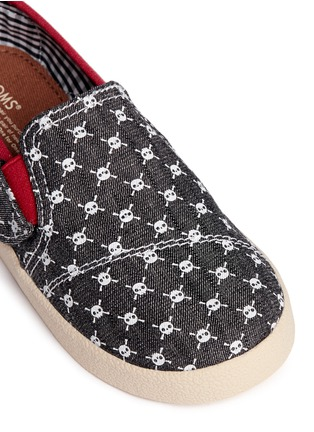 Detail View - Click To Enlarge -  - Tiny Avalon skull print toddler slip-ons