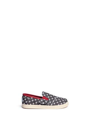Main View - Click To Enlarge -  - Tiny Avalon skull print toddler slip-ons