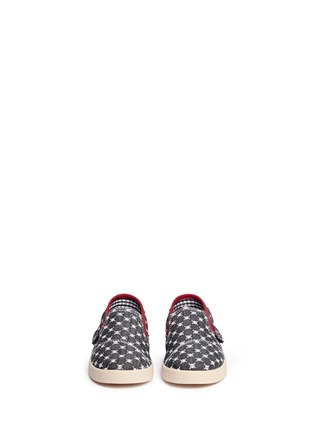 Figure View - Click To Enlarge -  - Tiny Avalon skull print toddler slip-ons
