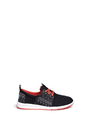 Main View - Click To Enlarge -  - Youth Del Rey zigzag panel kids sneakers