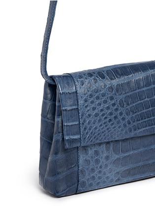 Detail View - Click To Enlarge - Nancy Gonzalez - 'Gotham' crocodile leather shoulder strap clutch