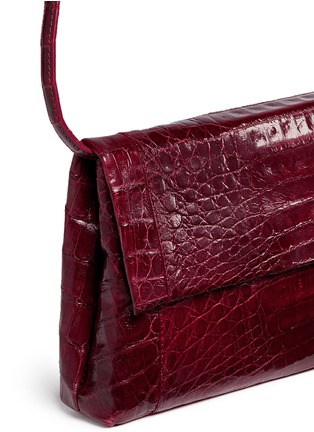 Detail View - Click To Enlarge - Nancy Gonzalez - 'Gotham' crocodile leather shoulder strap clutch