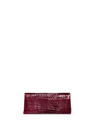Back View - Click To Enlarge - Nancy Gonzalez - 'Gotham' crocodile leather shoulder strap clutch