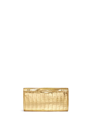 Back View - Click To Enlarge - Nancy Gonzalez - Embellished metallic crocodile leather clutch