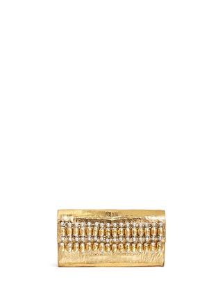 Main View - Click To Enlarge - Nancy Gonzalez - Embellished metallic crocodile leather clutch