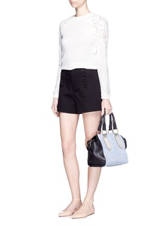SEE BY CHLOÉ'Paige' denim leather crossbody satchel