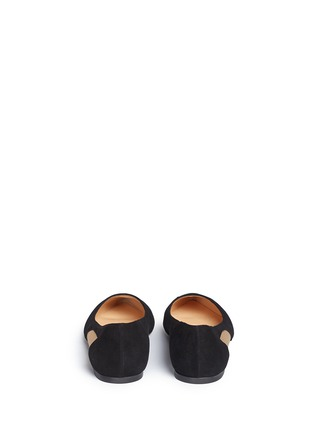 Back View - Click To Enlarge - Fabio Rusconi - Mesh cutout suede skimmer flats