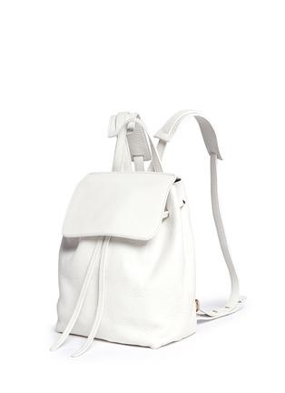 Front View - Click To Enlarge - Mansur Gavriel - Mini tumbled leather backpack