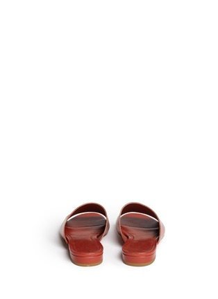 Back View - Click To Enlarge - Mansur Gavriel - Leather flat mules