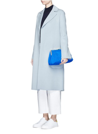 Figure View - Click To Enlarge - Mansur Gavriel - Volume' suede clutch