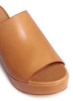 Block heel leather mules