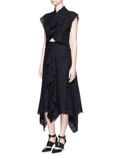 PROENZA SCHOULERFrayed tweed ruffle handkerchief skirt