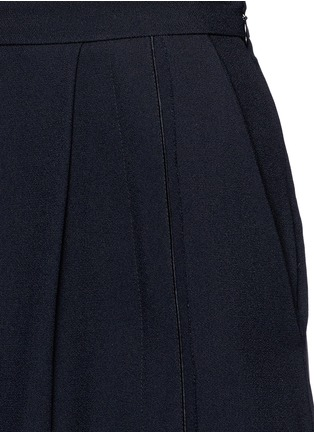 Detail View - Click To Enlarge - Proenza Schouler - Piped seam satin back crepe culottes