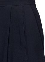 Piped seam satin back crepe culottes