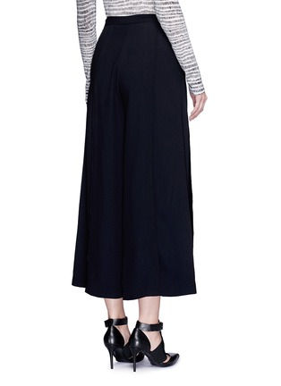 Back View - Click To Enlarge - Proenza Schouler - Piped seam satin back crepe culottes