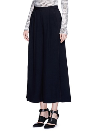 Front View - Click To Enlarge - Proenza Schouler - Piped seam satin back crepe culottes