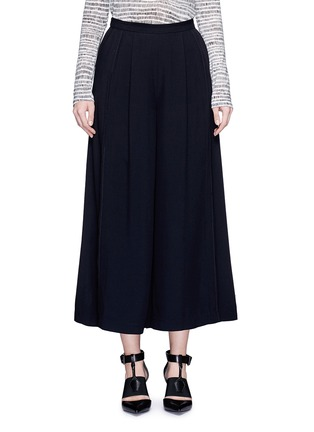 Main View - Click To Enlarge - Proenza Schouler - Piped seam satin back crepe culottes