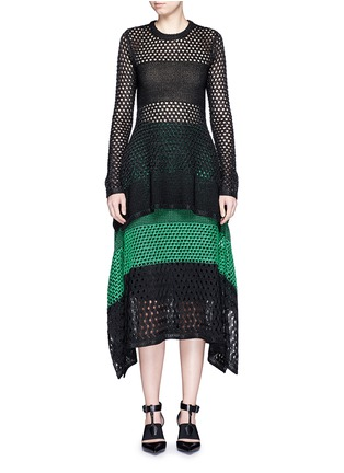 Figure View - Click To Enlarge - Proenza Schouler - Variegated stripe knit sweater