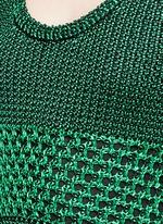 Variegated stripe knit midi dress