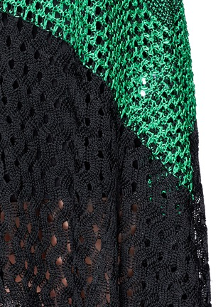 Detail View - Click To Enlarge - Proenza Schouler - Variegated stripe knit midi dress