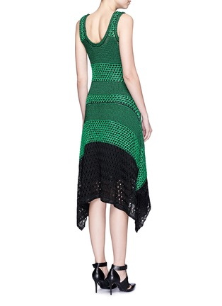 Back View - Click To Enlarge - Proenza Schouler - Variegated stripe knit midi dress