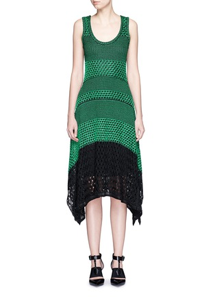 Main View - Click To Enlarge - Proenza Schouler - Variegated stripe knit midi dress