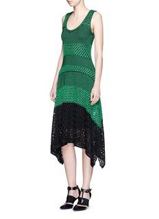 PROENZA SCHOULERVariegated stripe knit midi dress