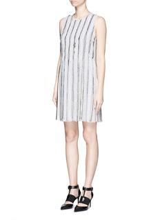 PROENZA SCHOULERNeedle punch chiffon stripe shift dress