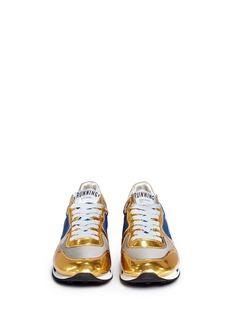 GOLDEN GOOSE'Running' nylon trim metallic leather sneakers