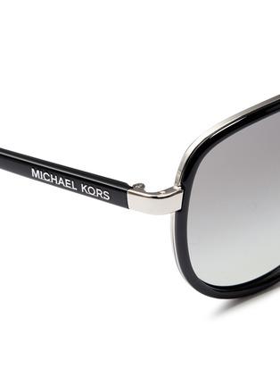 Detail View - Click To Enlarge - Michael Kors - 'Playa Norte' metal rim acetate aviator sunglasses