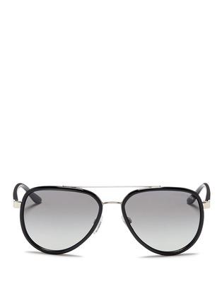 Main View - Click To Enlarge - Michael Kors - 'Playa Norte' metal rim acetate aviator sunglasses