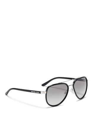Figure View - Click To Enlarge - Michael Kors - 'Playa Norte' metal rim acetate aviator sunglasses