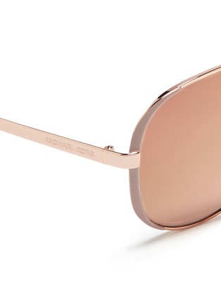 Detail View - Click To Enlarge - Michael Kors - 'Chelsea' coated metal aviator sunglasses