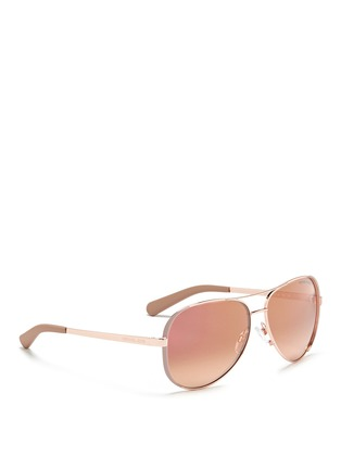 Figure View - Click To Enlarge - Michael Kors - 'Chelsea' coated metal aviator sunglasses