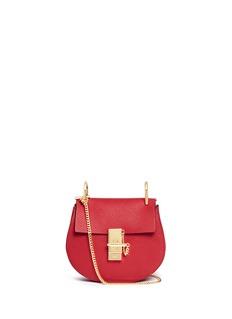 CHLOÉ'Drew' mini grainy leather shoulder bag