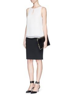 DIANE VON FURSTENBERG'Raica' silk sleeveless blouse
