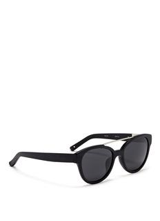 3.1 PHILLIP LIMx Linda Farrow wire top bar acetate cat eye sunglasses
