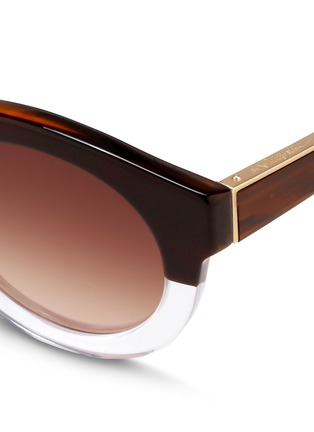 Detail View - Click To Enlarge - 3.1 Phillip Lim - x Linda Farrow horn effect colourblock acetate round sunglasses