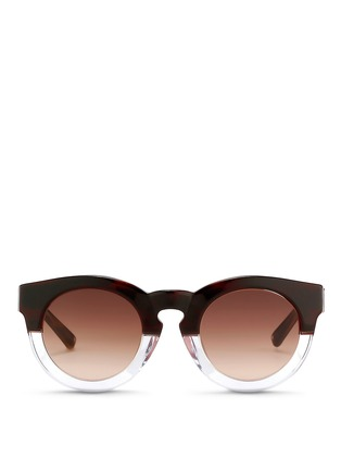 Main View - Click To Enlarge - 3.1 Phillip Lim - x Linda Farrow horn effect colourblock acetate round sunglasses