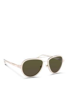 3.1 PHILLIP LIMx Linda Farrow titanium rim acetate aviator sunglasses