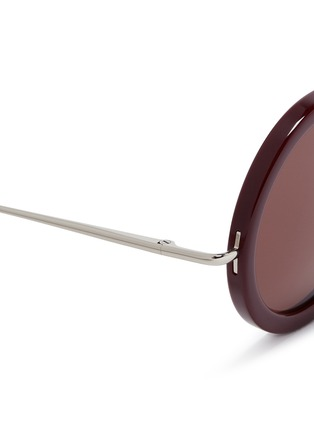 Detail View - Click To Enlarge - The Row - x Linda Farrow wire temple round acetate sunglasses