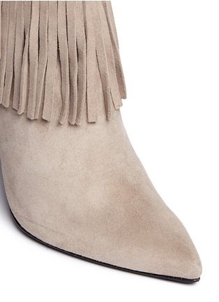 Detail View - Click To Enlarge - Stuart Weitzman - 'Fringe Times' suede ankle boots