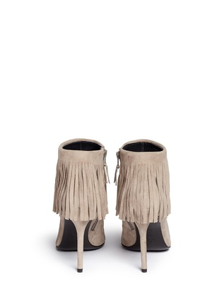 Back View - Click To Enlarge - Stuart Weitzman - 'Fringe Times' suede ankle boots