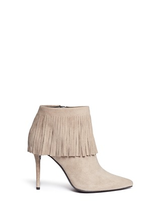 Main View - Click To Enlarge - Stuart Weitzman - 'Fringe Times' suede ankle boots