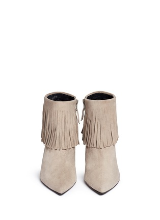 Figure View - Click To Enlarge - Stuart Weitzman - 'Fringe Times' suede ankle boots