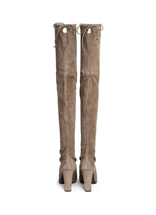 Back View - Click To Enlarge - Stuart Weitzman - 'Highland' suede thigh high boots