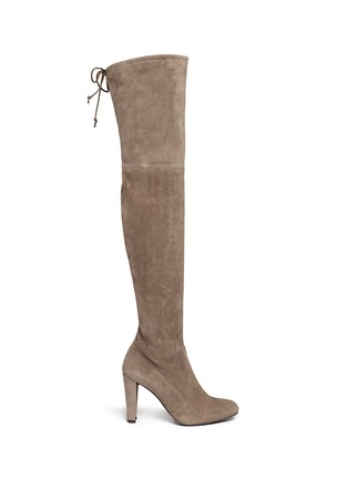 Main View - Click To Enlarge - Stuart Weitzman - 'Highland' suede thigh high boots