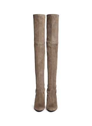 Figure View - Click To Enlarge - Stuart Weitzman - 'Highland' suede thigh high boots