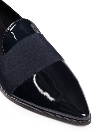 Detail View - Click To Enlarge - Stuart Weitzman - 'The Band' leather slip-ons