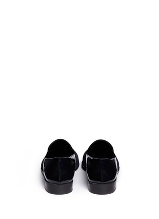 Back View - Click To Enlarge - Stuart Weitzman - 'The Band' leather slip-ons